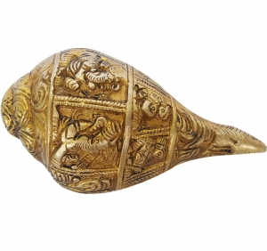 Lord Ganesha religious conch made of brass