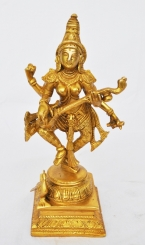 Decorative & unique brass metal hand made Goddess maa Saraswati statue