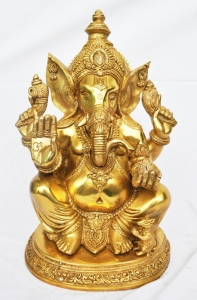 Brass Metal Lord Ganesha Hand Made Statue