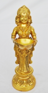 Hand made Brass Metal designer Deep Lakshmi/Oil Lamp