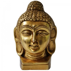 Lord Buddha brass metal hand made face statue